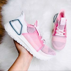 Adidas Ultraboost 19 White True Pink